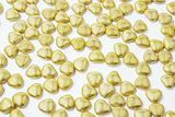 Heart-shaped Gold Chocolate Lollies