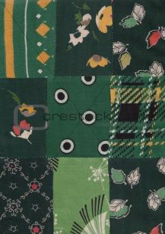 green quilt pattern