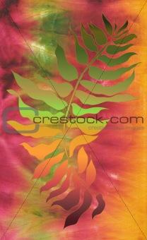 olive branch on batik background