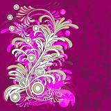 vector floral grunge background