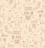 Seamless scribbles pattern