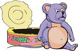 Fat mouse & can cartoon
