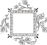 Floral frame decoration