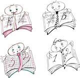 Pupil's mark book cartoons