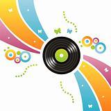 vinyl record  background