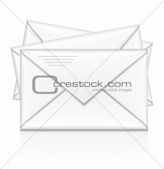 group of white postal envelope