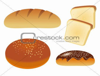 A set of icons with bread