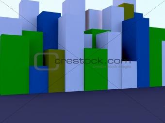 blocks standing