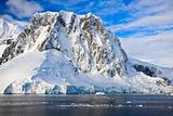 Snow-capped mountains in Antarctica