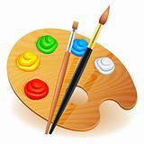 Art palette.