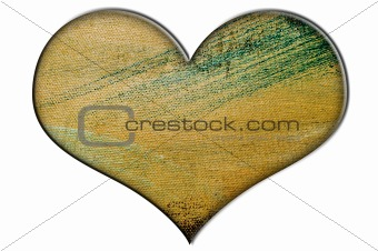 painted canvas heart