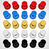 Pushpin Push Pins Colorful Vector