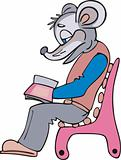 Mouse reader cartoon