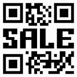 QR code for item in sale. EPS 8