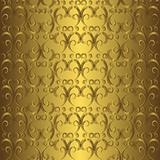 Golden seamless pattern