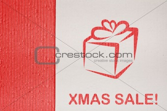 Cardboard background series - christmas sale