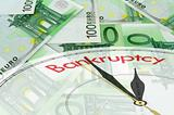 Euro banknotes background with clock face