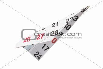 Calendar Paper Plane