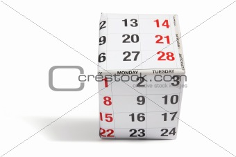 Box Wrapped with Calendar Paper