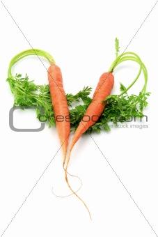 Carrots in Heart Shape