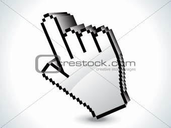 abstract  3d hand icon