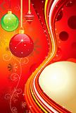abstract colorful glossy christmas balls