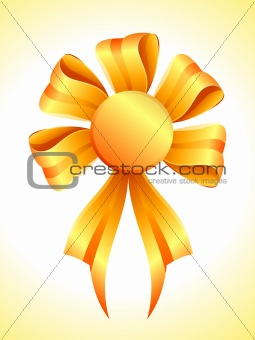 abstract golden ribbon