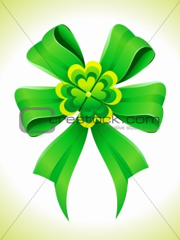 abstract st patrick ribbon