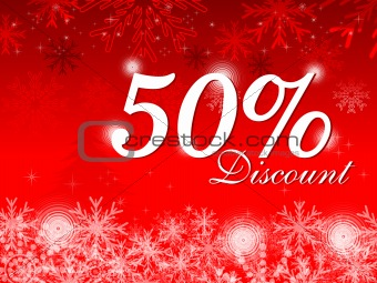 abstract christmas discount card