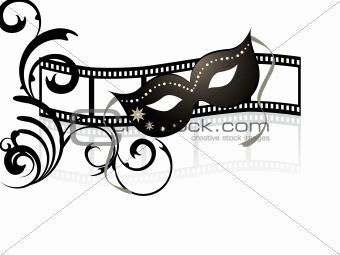 mask on filmstripe