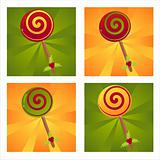 christmas lollipops backgrounds