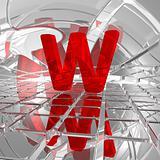w in futuristic space