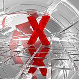 x in futuristic space