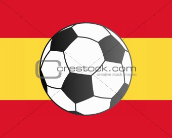 Flag of Spain and soccer ball