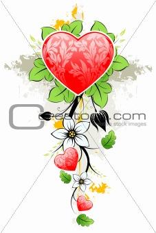 Abstract grunge Valentine's day Heart