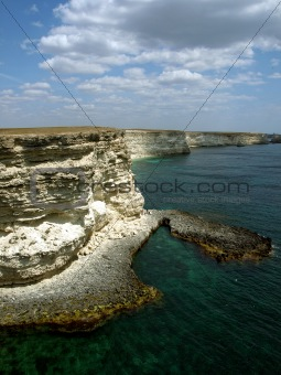Cape Tarhankut in Crimea, Black sea