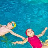 Children in a swimming pool