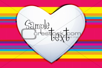 colorful valentine card