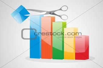 cutting  business graph