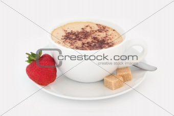 Cappuccino and Strawberry Treat