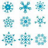 shapes of snowflakes