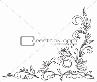 Abstract floral pattern, contours