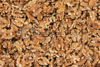 Background of peeled walnut