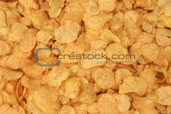 Background of potatos chips