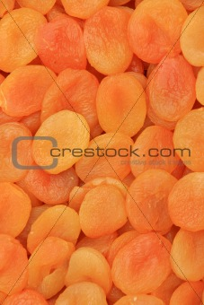 Background of dried peaches
