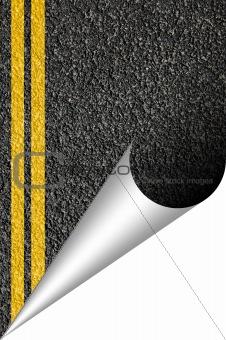 asphalt texture with copyspace