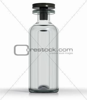 Slim medical bottle with  liquid