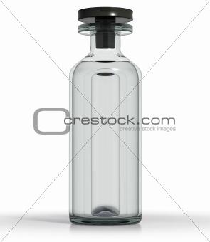 Slim medical bottle with  liquid
