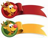 Rudolph Christmas Web Ribbon