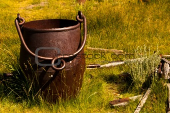 Rusted Slag Bucket
